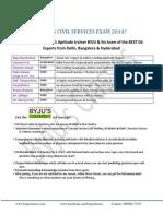 Upsc Sample Booklet Online 25.04.2014