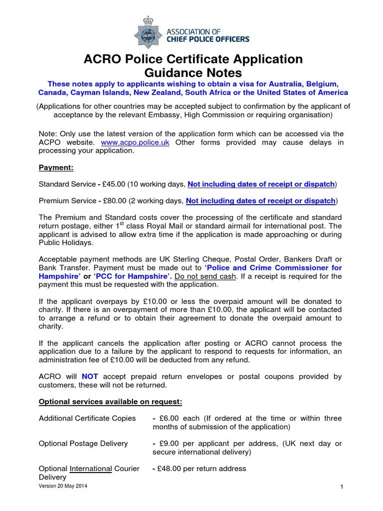 Police certificate application form english may 2014 mail police certificate application form english may 2014 mail address geography 1betcityfo Choice Image