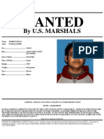 Wanted Poster For Accused Lotto Ticket Thief