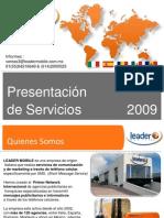 PRESENTACION DE SERVICIOS DE MKT MOVIL LEADER MOBILE