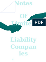 Limited Liability Company Notes
