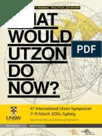 Utzon Symposium Program 2014