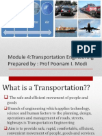 Module 4 - Transport Engg