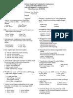 Soal Ujian Mid Semester II Seni Budaya Kls Vii 2014