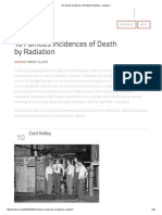 10 Famous Incidences of Death by Radiation
