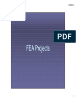 FEA Projects Lecture