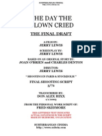 The Day The Clown Cried (banned movie) final script