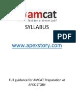 AMCAT Syllabus Www.apexstory.com