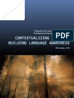Contextualizing Language - Building language awareness  Modules 2 - 3