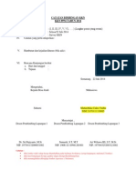Format Logsheet
