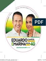 Eduardo e Marina PRAGUINHA FOTO 8cm Diametro
