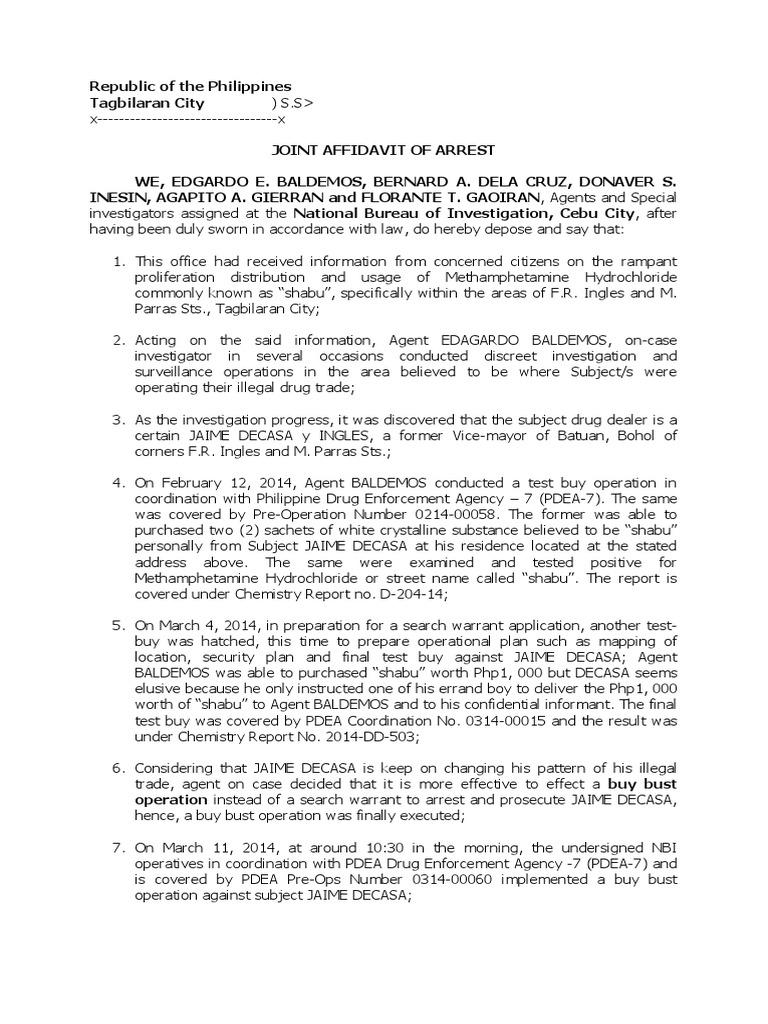 Joint affidavit of arrest methamphetamine crime justice thecheapjerseys Choice Image