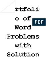 Portfolio of Word Problems With Solution