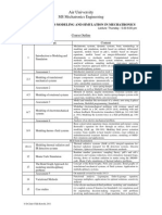 Modeling and Simulation Course Outline 2011