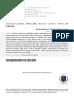 00pp 2013 - Kalsoom, Akhtar - Enseñanza de La Gramática Relaciones Entre Las Creencias y Las Prácticas de Los Docentes