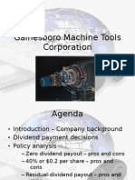 Dividend Policy Case (Gainesboro Machine Tools)-Session 2-Group 8