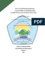 Analisa Alat Penukar Kalor Pada Pelumasan Turbin Gas Di Pembangkit Listrik Tenaga Gas Uap (PLTGU) Sicanang (06-En-TA-2013)