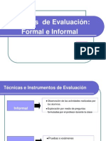 Tecnicas de Evaluacion Formales e Informales S-604