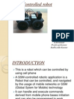 Gsm Controlled Robot