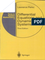 Differential Equations and Dynamical Systems Lawrence Perko