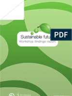 Sustainable future workshop findings report