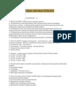 Latihan Soal Ujian Advokat PERADI