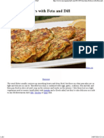 Zucchini Fritters With Feta and Dill