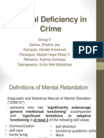 Mental Deficiency in Crimes