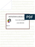 Initiation Excel 2007