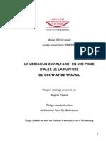 Rapport de Stage S- Patard Droit Social