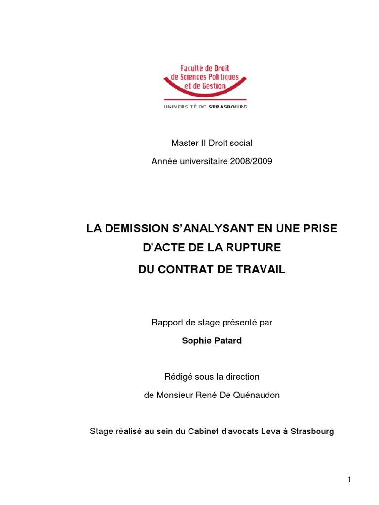 Rapport De Stage S Patard Droit Social Exoneration Gouvernement
