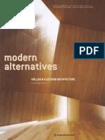 Modern Alternatives - Holler & Klotzner Architecture (Art eBook)