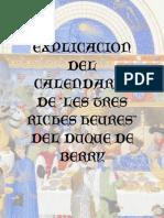 Explicacion del Calendario de Les Très Riches Heures del Duque de Berry