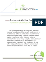 LifeValuesInventory.org - Leisure Activities Locator