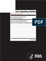 Food Label Guide FDA