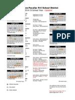 raypec 2014-2015 calendar