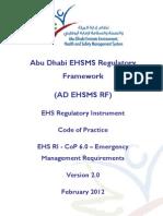 CoP - 6.0 - Emergency Management Requirements