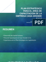 Plan Estratégico Área de Capacitación