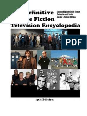 The Definitive Science Fiction Television Encyclopedia - Appendix