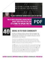 '40' Brochure with '10 Steps to Bring '40' to Your Community'