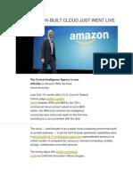 CIA's Amazon-built Cloud Just Went Live