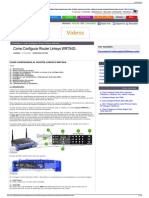 Como Configurar Router Linksys WRT54G..