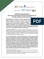 9 08 2014 ProgramaDEFENSORAS Conversatorio