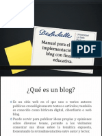 Implementación de un blog educativo