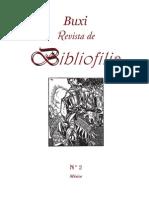 Buxi Revista de Bibliofilia 2 (Extracto)