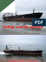schip aan de grond