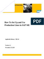SAP ME How-To-Guide - Setting Up Production Lines