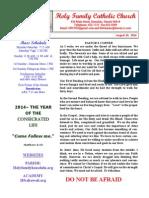 hfc august 10 2014 bulletin 1