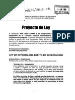 Proyecto de Ley 2156_29!04!2013 Delito de Receptacion