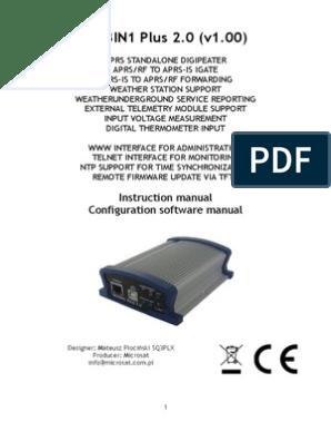 Wx3in1plus20 v100 Manual English   Usb   Telemetry